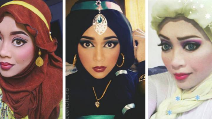 This Makeup Artist Uses Her Hijab To Turn Herself Into Disney Princesses