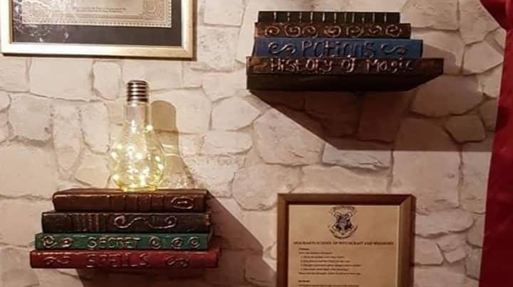 Woman Creates Spell-Binding Harry Potter Bedroom For Her Kids For £69
