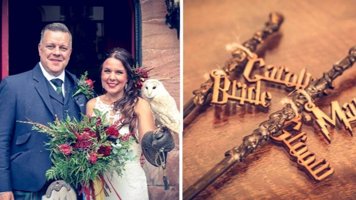 Couple Get Married In Harry Potter-Themed Ceremony