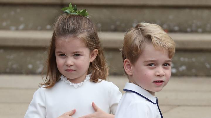 Prince George And Princess Charlotte Stole The Show At Princess Eugenie's Wedding