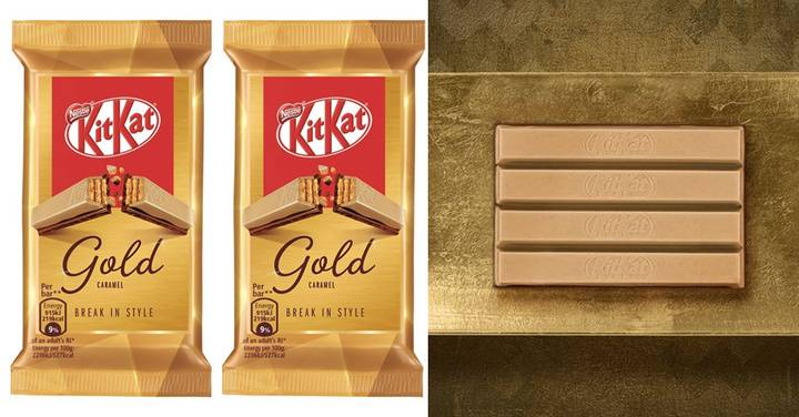 A Gold KitKat Is Launching In The UK And It's Caramel Flavour