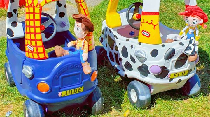 Dad Creates Incredible 'Toy Story' Cars For His Kids For Just £45