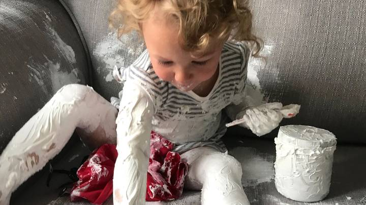 Little Girl Smothers Herself And Family Sofa In Sudocrem During Lockdown