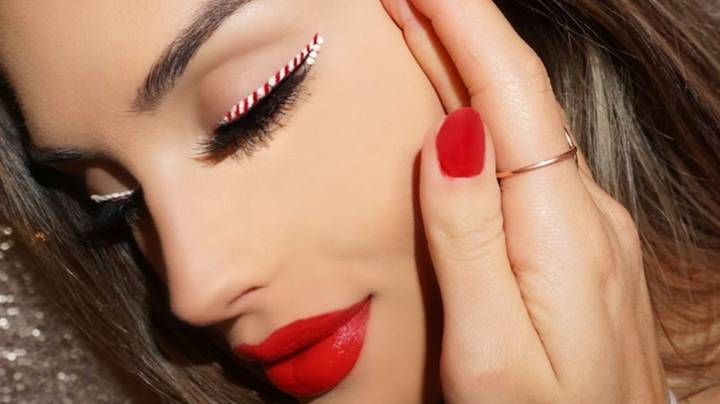 Candy Cane Liner Is The New Festive Make-Up Trend To Try