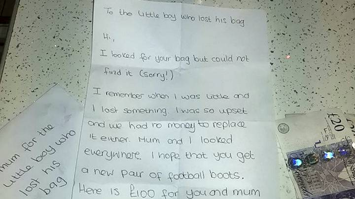 Mum Praises Stranger's Generous £100 Gift To Replace Her Son's Lost Football Kit