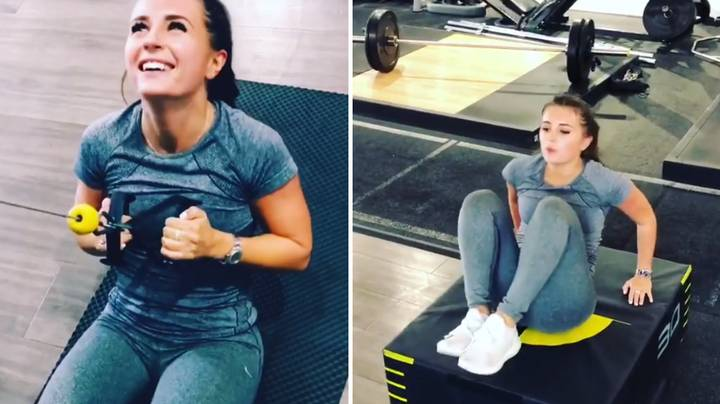 Behind The Scenes Of Dani Dyer's New Intense Workout Regime