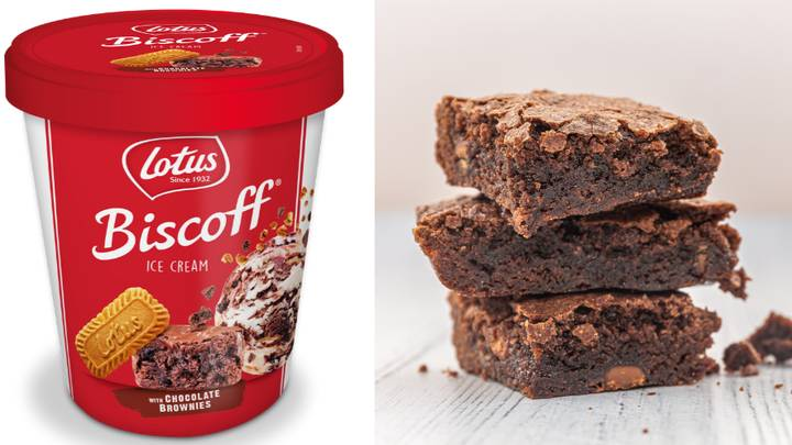 B&M Is Selling Lotus Biscoff Chocolate Brownie Ice Cream For A Limited Time Only