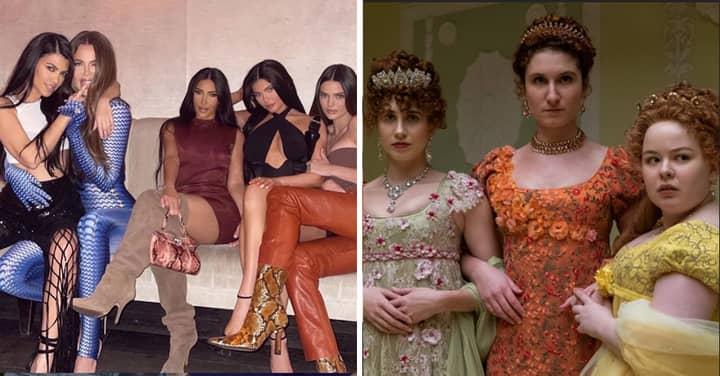 Kim Kardashian Finally Discovers Bridgerton's Featherington Sisters Were Inspired By Her