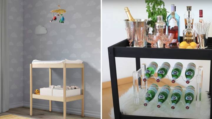 People Are Making This Ikea Changing Table To Make Drinks Trolleys And It's Genius