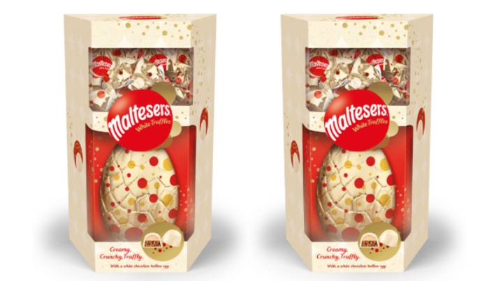 The White Chocolate Maltesers Easter Egg Looks So Dreamy