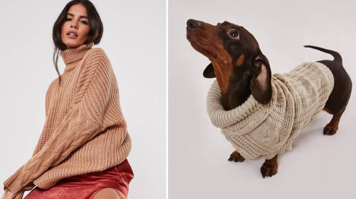 Missguided Is Selling Matching Dog And Owner Jumpers For Christmas