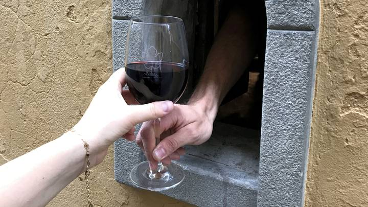 Italy Reopens Historic 'Wine Windows' To Help Stop The Spread Of Coronavirus