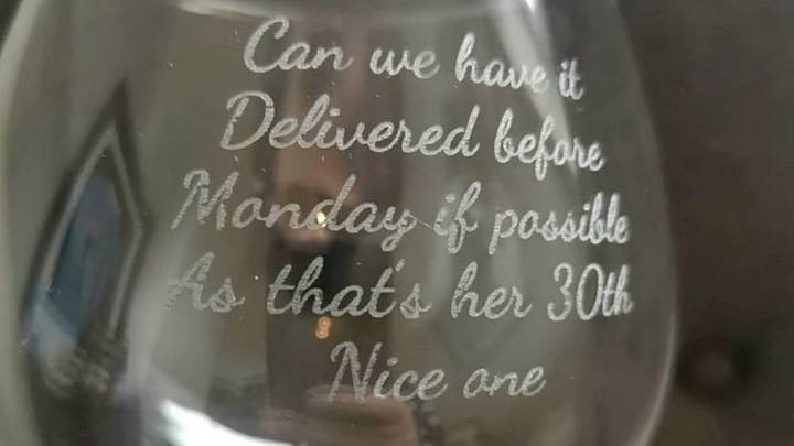 Man Accidentally Gets Delivery Instructions Engraved On Fiancée's Birthday Gift