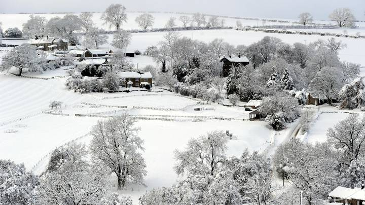 Met Office Issues Weather Warning With Snow Forecast Across The UK