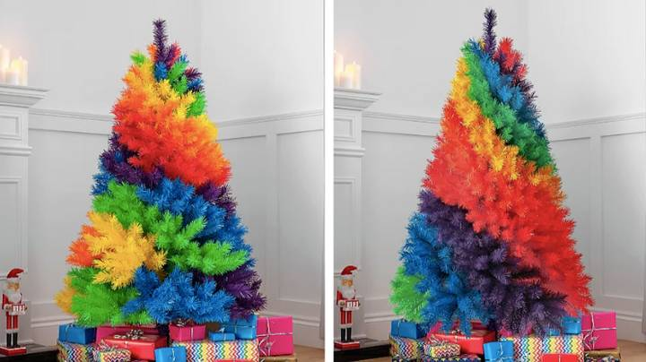 ASDA Is Launching Huge Rainbow Christmas Trees