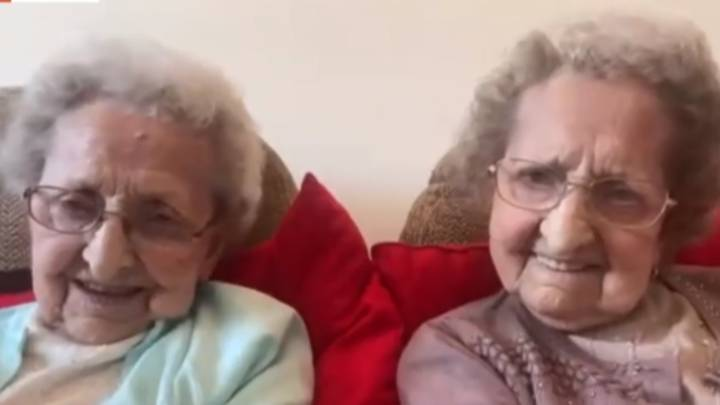 'GMB' Fans 'Howling' As Britain's Oldest Twins, 95, Flirt With Piers And Discuss Sex Lives