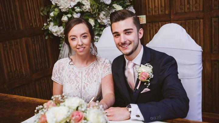 Couple Quoted £1,000 For A Wedding Dress Frame Make Their Own For £100