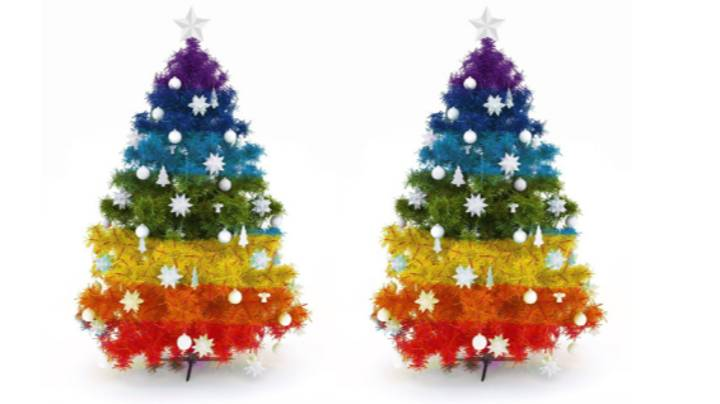 People Are Putting Up Rainbow Christmas Trees To Pay Tribute To The NHS