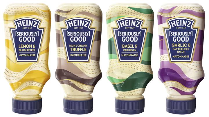 Heinz Has Launched A New Mayo Range Including Truffle, Basil And Lemon Flavours