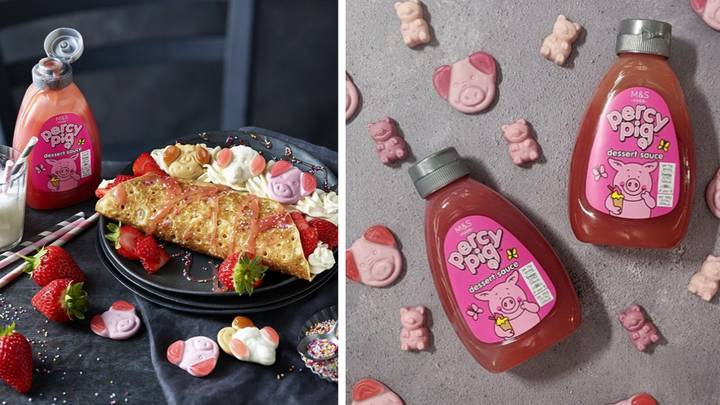 M&S Has Just Launched A Pink Percy Pig Dessert Sauce