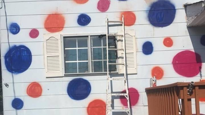 Woman Hilariously Paints 'Ugly' Polka Dots On House To Annoy 'Miserable' Neighbours