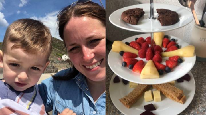 Woman Comes Up With Genius Cake Stand Hack To Get Fussy Kids To Eat