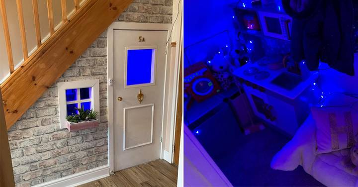 Woman Creates Incredible Under The Stairs Playhouse For Her Daughter