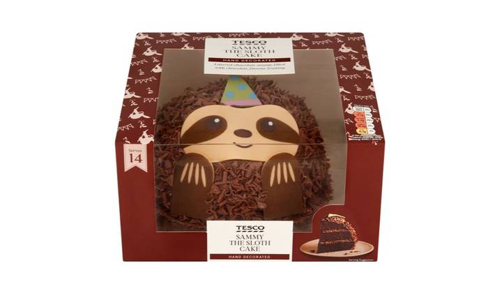 Tesco Is Now Selling A Sloth Celebration Cake
