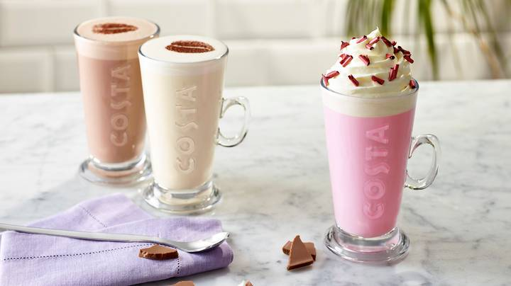 Costa Is Selling Pink Hot Chocolate And It's A Girly Dream