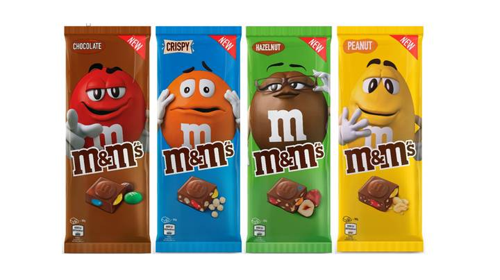 M&M's Launch First Ever Chocolate Bars In The UK