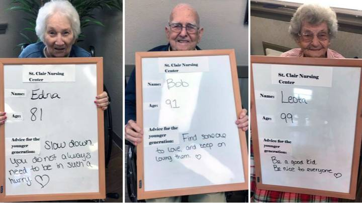 Care Home Residents Give Daily Advice To The Younger Generation
