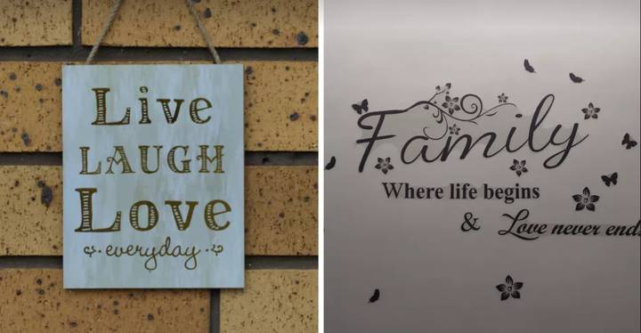 Word Art Is 'Tacky,' According To Interiors Expert