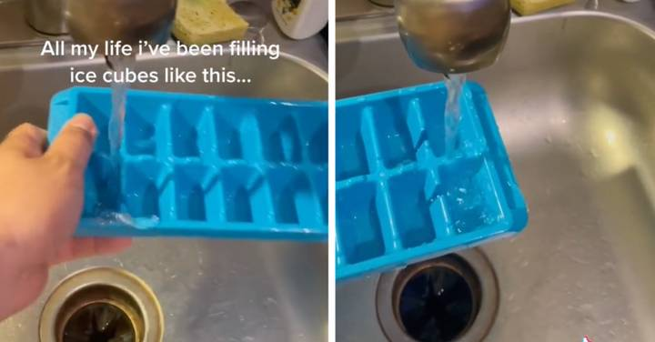 People Are Just Finding Out How To Fill Ice Cube Trays Properly