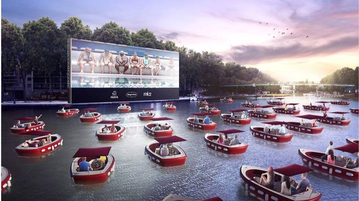 You Can Sit In Socially-Distanced Boats In This Incredible Outdoor Cinema
