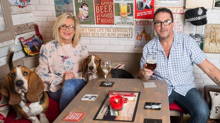 Woman Builds Husband A Pub In Their Back Garden To Stop Him Going To His Local