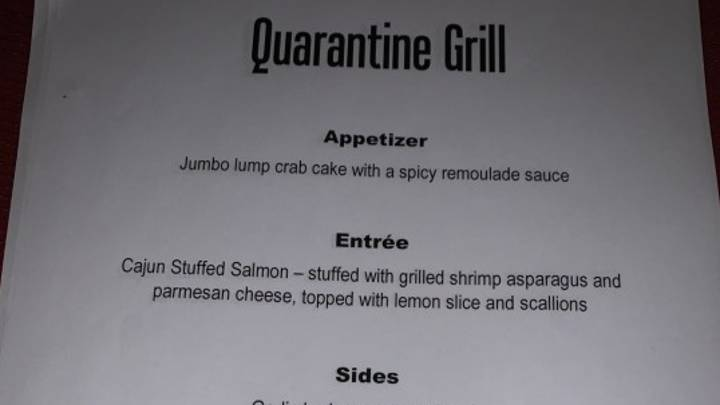 Man Creates Quarantine Grill Restaurant To Cheer His Wife Up During Coronavirus Isolation