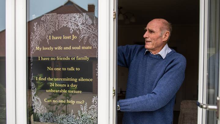 Lonely Man Puts Sign In His Window Asking For People To Be His Friend
