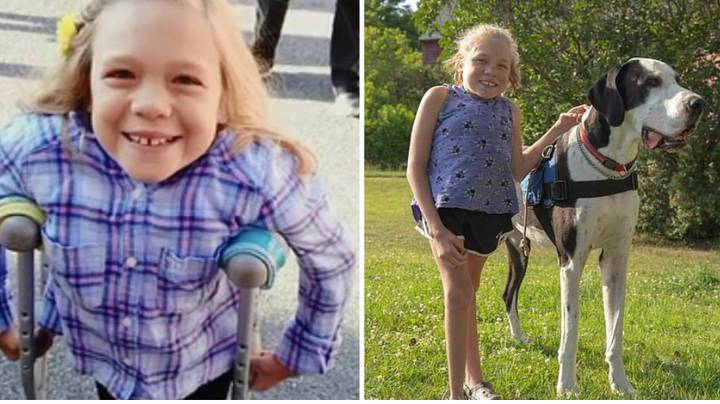 Teen Who Was Told She'd Never Walk Defies All Odds Thanks To Great Dane