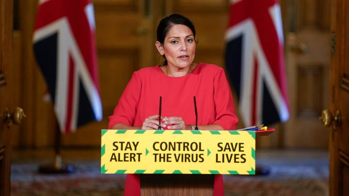 Priti Patel Confirms Sitting On Park Benches is Banned Under New Lockdown Rules