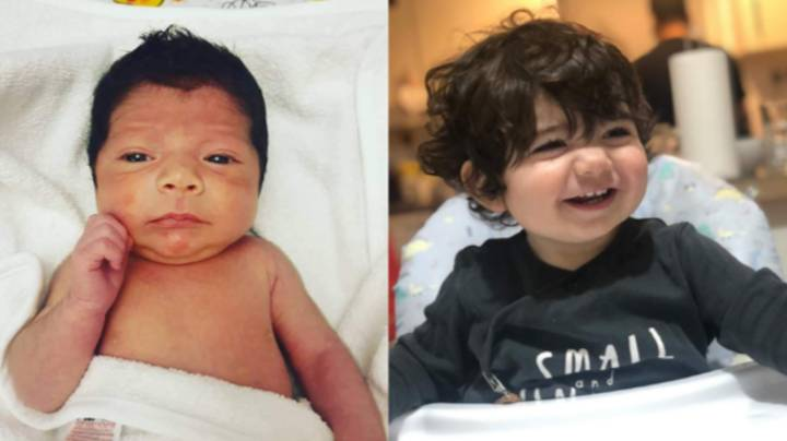 Baby Boy Born At 36 Weeks Stuns With Full Head Of Hair