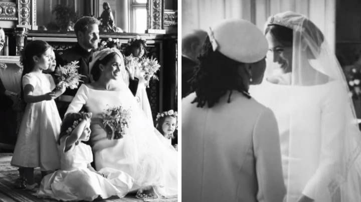 Harry and Meghan Mark Anniversary With Twelve New Unseen Wedding Snaps