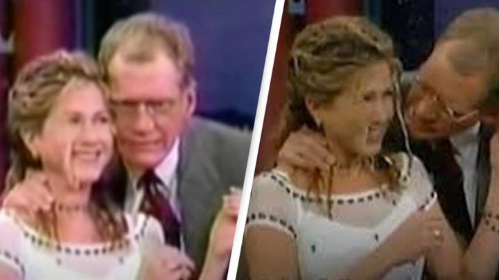 'Disturbing' David Letterman Interview Sees Talk Show Host Sucking Jennifer Aniston's Hair
