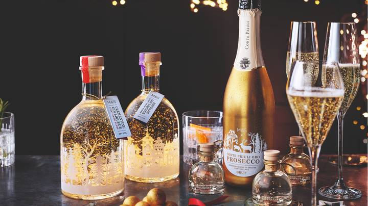 M&S Relaunches Its Snowglobe Gins For Christmas