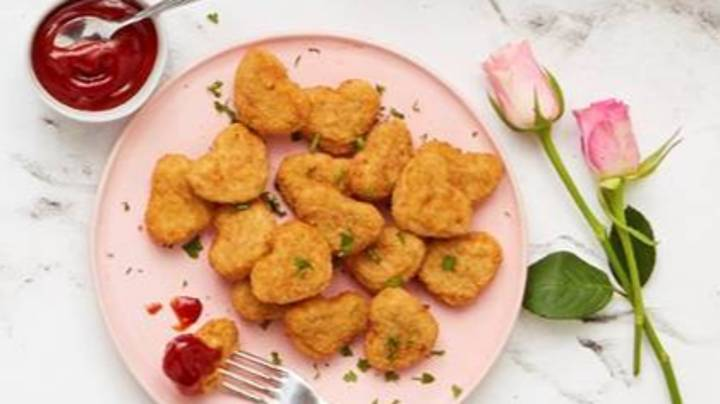 Aldi Launches Heart-Shaped Chicken Nuggets For Valentine's Day
