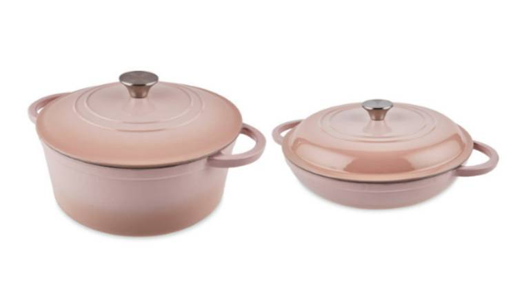 Aldi Launches Baby Pink Le Creuset Cookware Dupes For Just £24.99