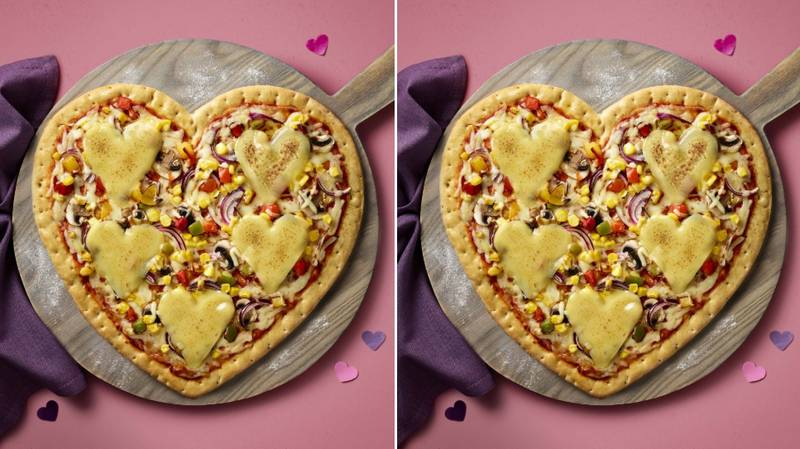 ASDA Is Selling Love Heart Pizzas Just In Time For Valentine's Day