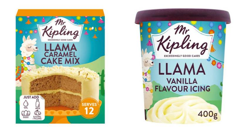 ASDA Is Selling A Mr Kipling Llama Cake Mix And Icing