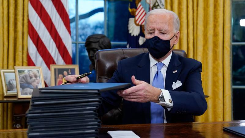 President Joe Biden Signs 15 Executive Orders On First Day Reversing Donald Trump's Controversial Policies