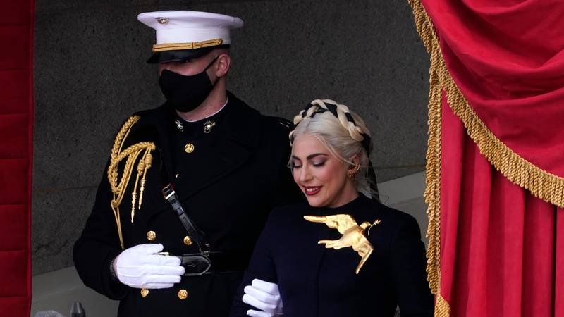 People Can't Get Over Lady Gaga Going Full On Hunger Games At The Inauguration