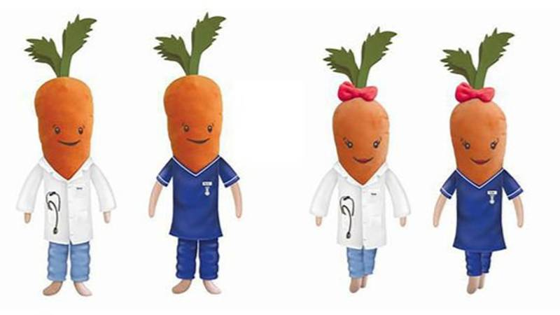 Aldi To Sell 500 Limited-Edition NHS Kevin & Katie Carrots For Charity